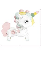 Конструктор LOZ Розовый единорог 880 деталей NO. 9256 Pink Unicorn iBlockFun Series