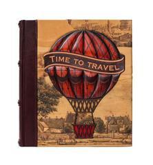 Фотоальбом в кожаном переплете «Time to Travel»
