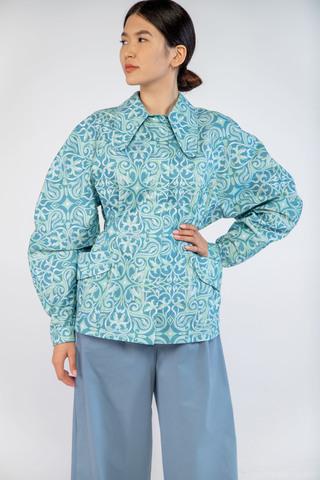 Куртка приталенная (принт 203-01) Adili
