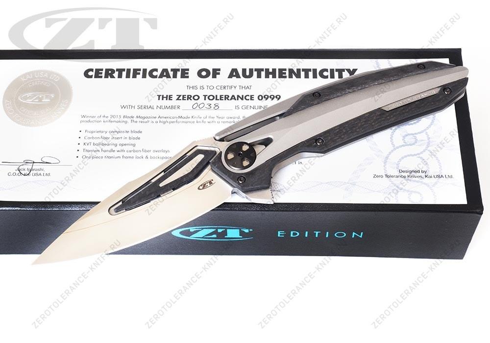 Нож Zero Tolerance 0999 Limited Edition - фотография