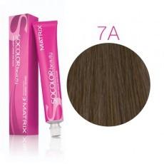 Matrix SOCOLOR.beauty: Ash 7A блондин пепельный, краска стойкая для волос (перманентная), 90мл