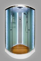 Душевая кабина DETO ЕМ1590 90х90 см с LED-подсветкой