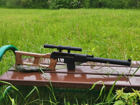 Kalashnikov VSS Vintorez wood life size