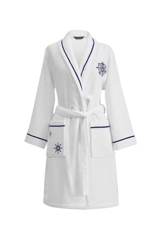 MARINE LADY белый махровый женский халат  Soft Cotton (Турция)