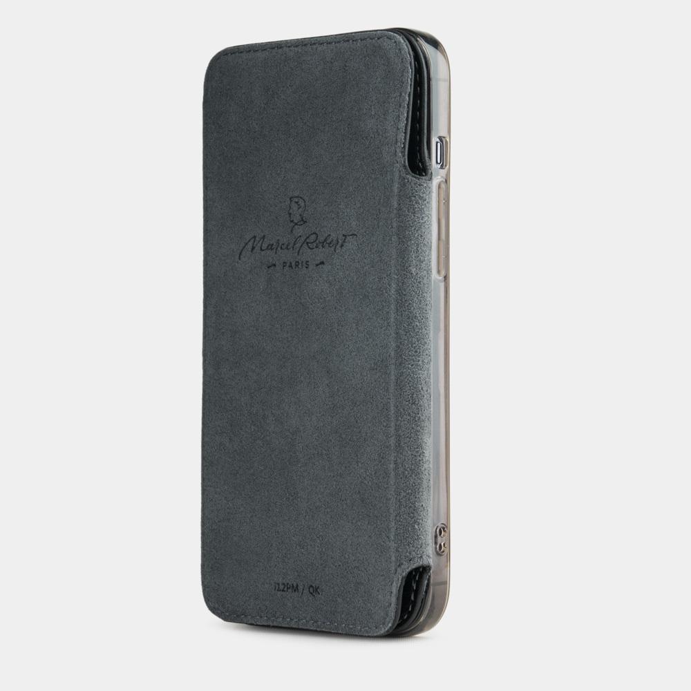 Чехол Benoit для iPhone 12/12Pro из натуральной кожи теленка, черного цвета