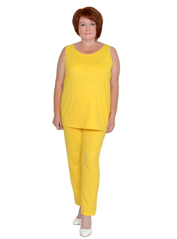 Майка из трикотажа жёлтая
