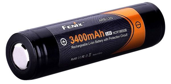 аккумулятор Fenix ARB-L2S 18650 Li-Ion 3400 mAh, защищенный