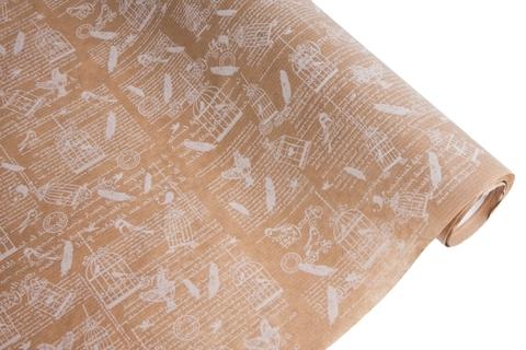 Бумага крафт 40гр/м2, 70см x 10м, Вдохновение, белый