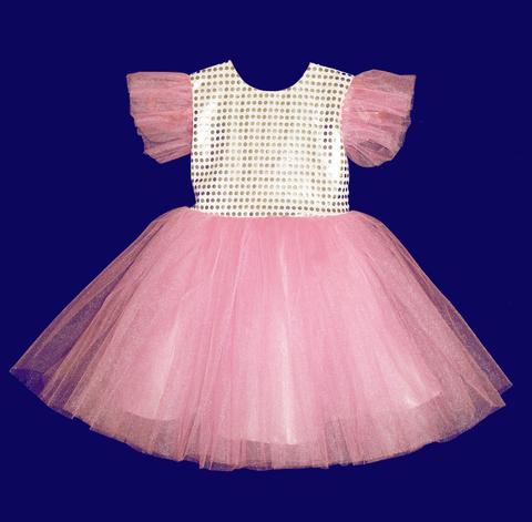 Платье  розовое для малышек