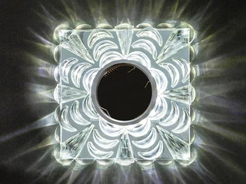Встраиваемый Светильник SP-H036L-3W-SR Хром+Диодная подсветка