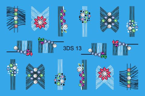 3D слайдер для ногтей со стразами, 3DS- 13