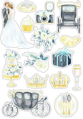 Печать на сахарной бумаге, Набор Свадьба 1