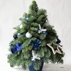 Елочка-мини синяя 30 см