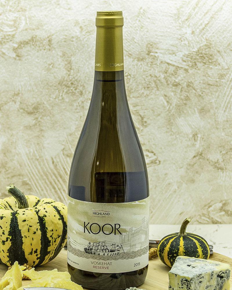 Вино Koor Белое Cухое Резервное 2015 г.у. 13,0% 0,75 л.