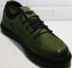 Полуспортивные туфли кеды мужские низкие Luciano Bellini C2801 Nb Khaki.