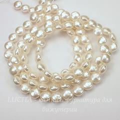 5860 Хрустальный жемчуг Сваровски Crystal White круглый плоский 10 мм