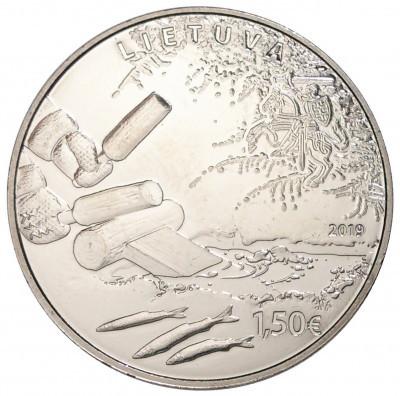 1,5 евро Литва - Ловля корюшки. 2019 год