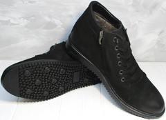 Ботинки из натуральной кожи зимние мужские Luciano Bellini 71783 Black.