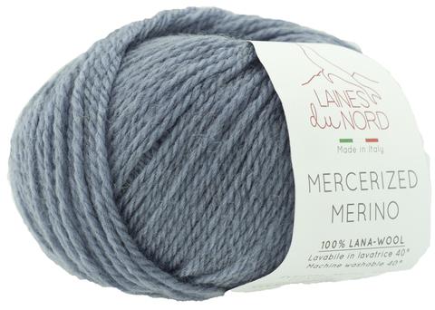 Пряжа Mercerized Merino (Мерсеризед Мерино). Серо-синий. Артикул: 13