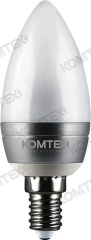 КОМТЕХ Лампа СДЛ-Cс-5-220-830-200-E14 серебро (свеча)