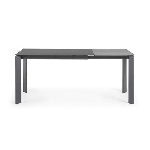 Стол раскладной Atta 120(180) x80 антрацит, керамика