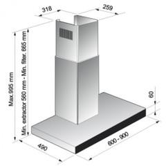 Вытяжка Korting KHC 6770 X - схема