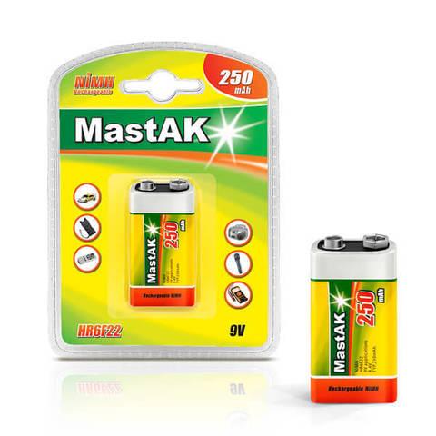 Аккумуляторы MastAK 6F22/1bl 300mAh Ni-MH