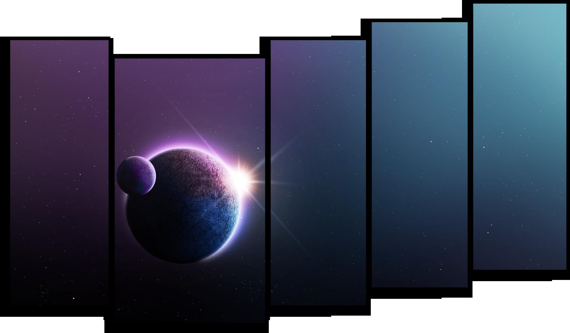"""Космос Модульная картина """"Затмение"""" М528.png"""