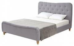 Кровать SWEET JAZMIN 160x200 ткань Grey 2 — серый
