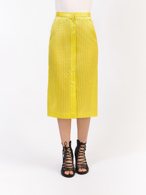 Верхняя желтая юбка