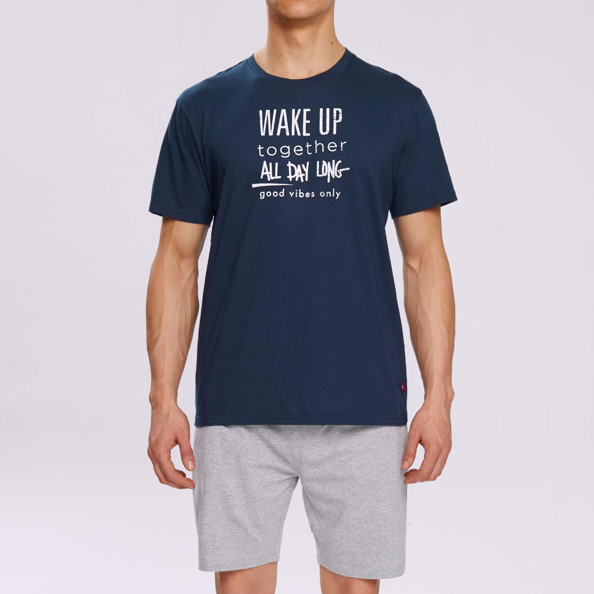 Пижама мужская с шортами NMP-310 100% хлопок