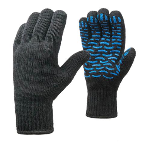 Перчатки полушерстяные двойные с ПВХ (волна)