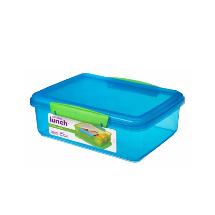 """Контейнер пищевой Sistema """"Lunch"""" 2 л, цвет Голубой"""
