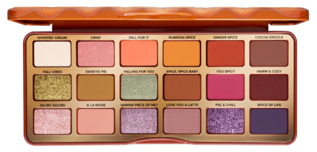 Too Faced Pumpkin Spice Warm & Spicy Eye Shadow Palette палетка теней