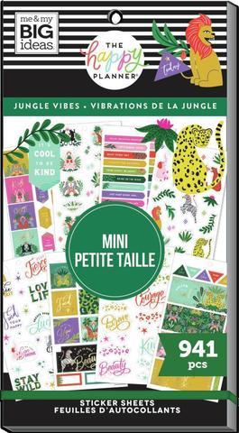 Блокнот со стикерами для ежедневника Mini Value Pack Stickers - Jungle Vibes- 941шт