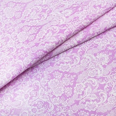 Бязь плательная 150 см 402/2 Дамаск цвет розовый