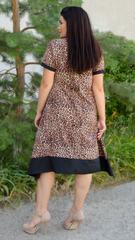 Адажио літо. Святкова сукня великих розмірів. Леопард беж.