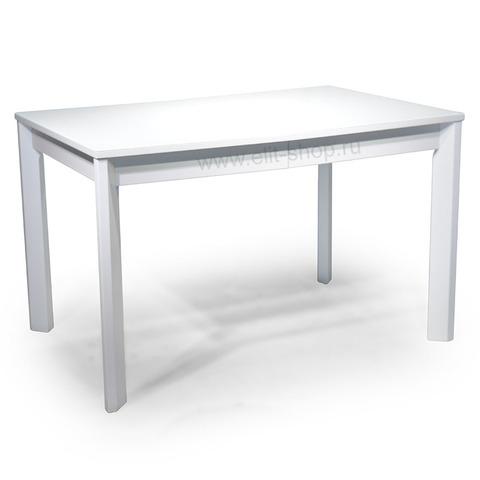 Стол НАГАНО-2 Белый / рис.0 / подстолье белое / опора №6 дерево / 120(200)х80см