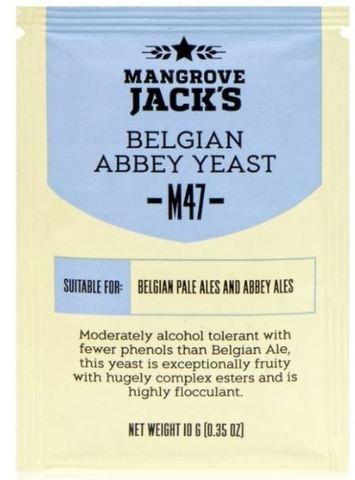 Пивные дрожжи Mangrove Jack's M47 Belgian Abbey, 10 гр