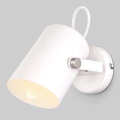 Настенный светильник с поворотным плафоном 20093/1 белый/сатин никель