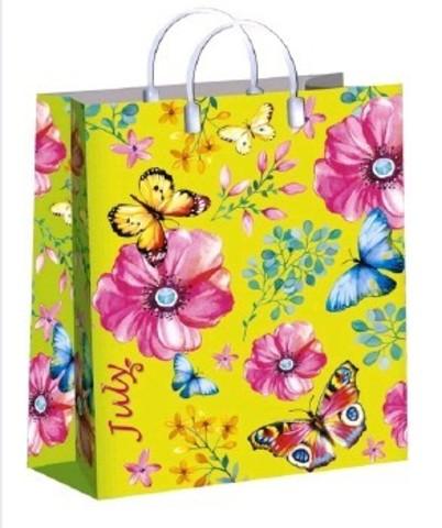 Подарочные пакеты 30х40+10 (150) из мягкого пластика  (Июль)