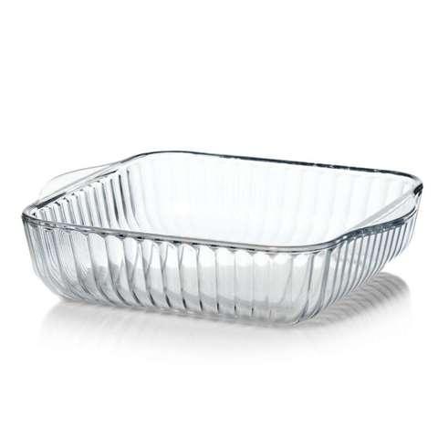 Форма для запекания квадратная рельефная 2 литра Borcam 59384 жаропрочная стеклянная форма для запекания 22х25,6 см рубашка