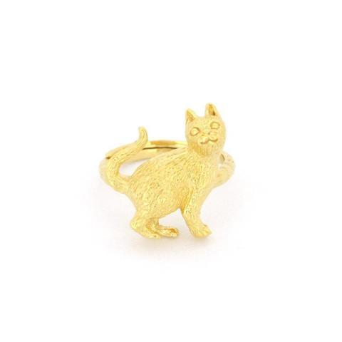 Кольцо Встающий Котик