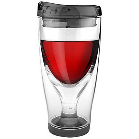Бокал Asobu Ice vino 2go (0,48 литра), черный