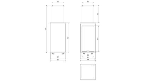 Газовый обогреватель Kratki PATIO/MINI/M/G30/37MBAR/B (уличный) - белое стекло, с ручным управлением (8,2кВт)