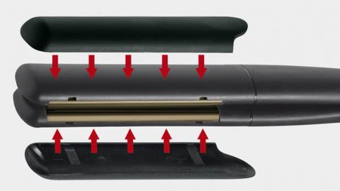 Щипцы Gamma Piu Keratin, 33х105 мм, 43 Вт