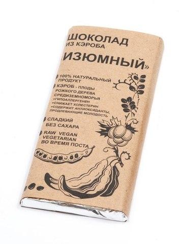Шоколад из кэроба Изюмный 100г БК Урожай