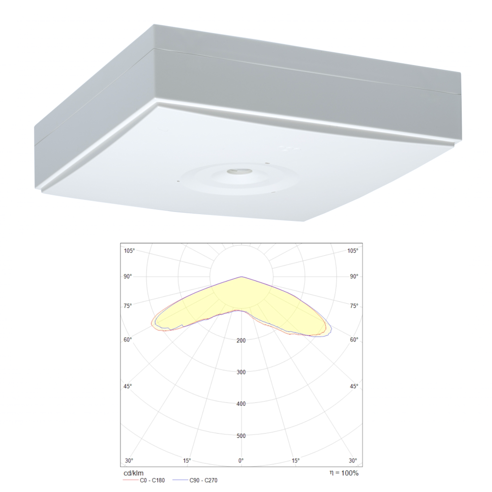 Потолочный светильник аварийного освещения ZONESPOT II LOWBAY IP44 Teknoware