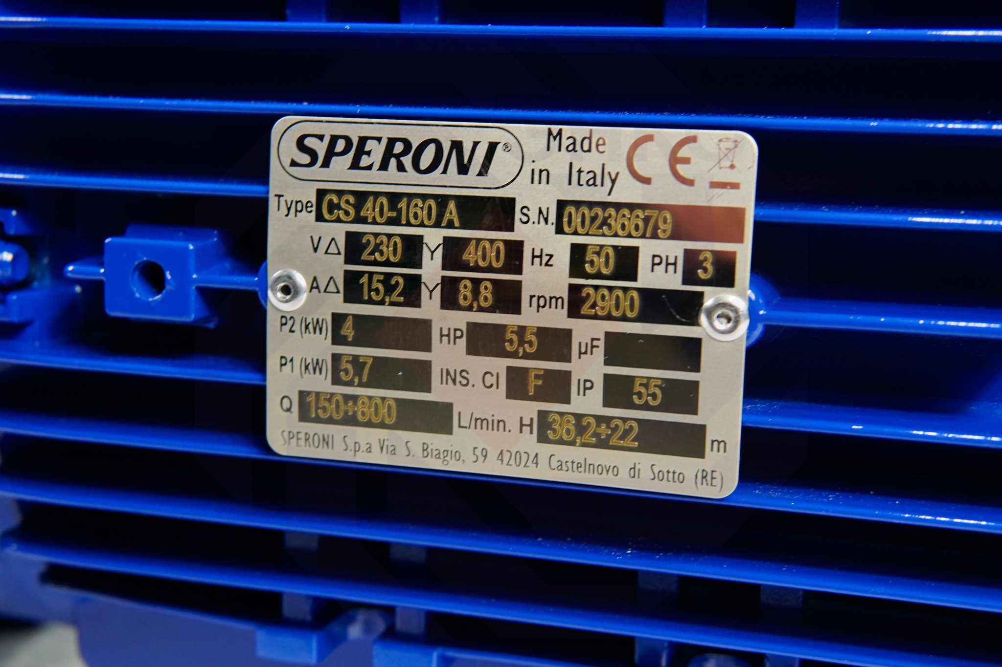 Насос моноблочный SPERONI CS 40-160 A