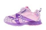 Светящиеся кроссовки Свинка Пеппа (Peppa Pig) на липучках для девочек, цвет сиреневый. Изображение 3 из 5.